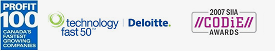 Profit 100, Technology fast 50, Deloitte, 2007 SIIA CODiE Awards